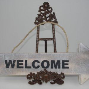 """Valgustusega silt """"Welcome"""""""